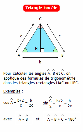 Calculer la mesure des angles d 39 un triangle isoc le - Comment couper les plinthes dans les angles ...