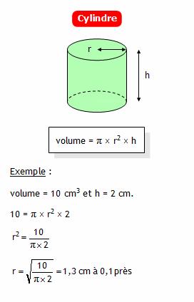 Calculer le rayon d 39 un cylindre connaissant son volume et - Calculer le volume d une piscine ...