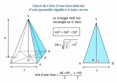 Calculer l 39 aire d 39 une pyramide r guli re for Calculer le volume d une maison