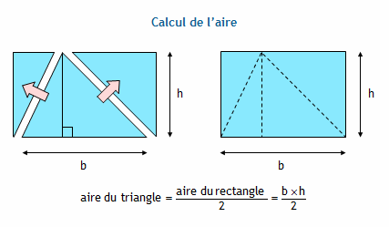 Formulaire de g om trie coll ge aire d 39 un triangle - Calcul volume litre ...