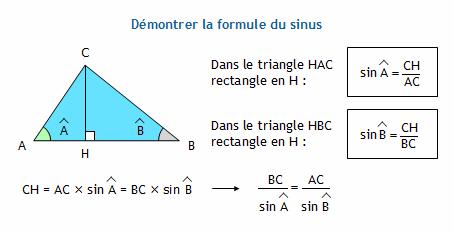 formule angle triangle