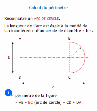 Calculer le p rim tre et l 39 aire de la figure n 3 for Calculer la surface d un escalier